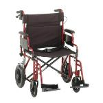 NOVA TRANSPORT CHAIR W/BRAKES, 22IN RED