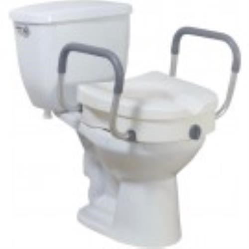 LOCKING TOILET SEAT RISER W/REMOVABLE ARMS