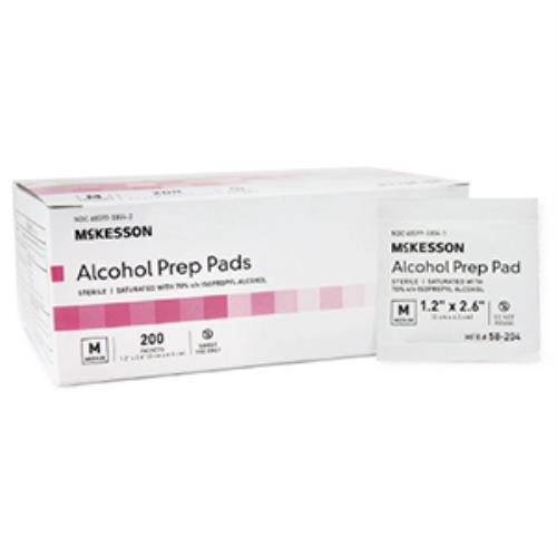 MCKESSON ALCOHOL PREP PAD STR MED