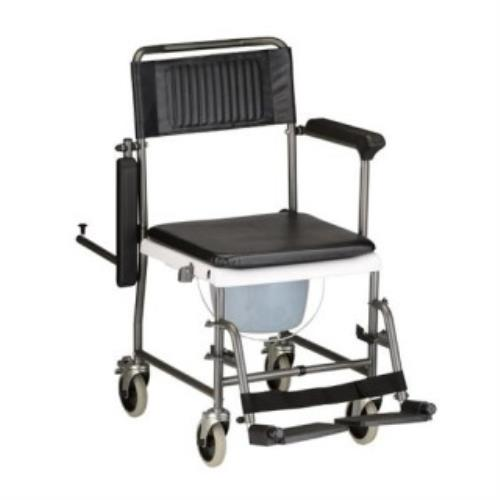 NOVA TRANSPORT CHAIR W/COMMODE SEAT