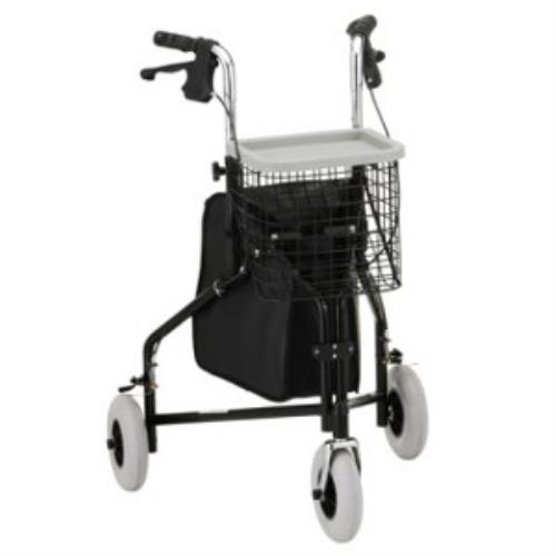 NOVA TRAVELER WALKER 3-WHEEL, BLACK