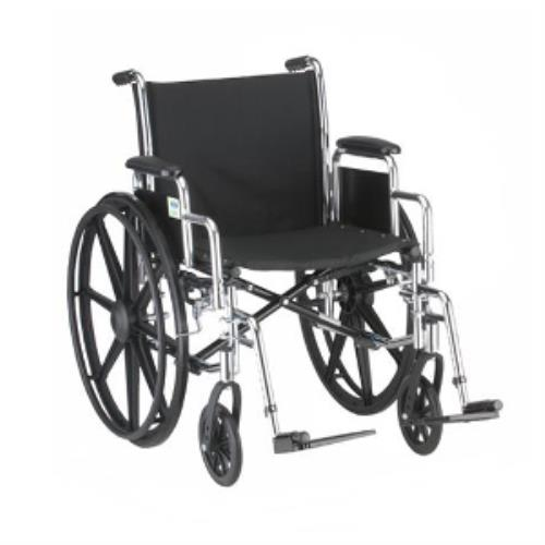 NOVA WHEELCHAIR 18IN W/DETACH ARMS AND SWINGAWAY LEG RESTS