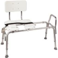SLIDING TRANSFER BENCH W/CUT-OUT SEAT UP TO 400LBS
