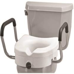 NOVA LOCKING TOILET SEAT RISER W/REMOVABLE ARMS