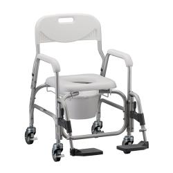 SHOWER CHAIR PADDED W/COMMODE CUT-OUT