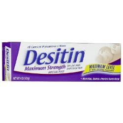DESITIN MAX STRENGTH DIAPER RASH CREAM, 4OZ
