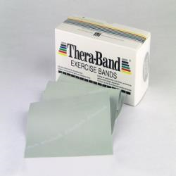 THERABAND EXERCISE BAND PER FT, LEVEL 6 - SILVER